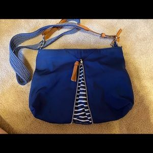 Stella and Dot cross body navy purse